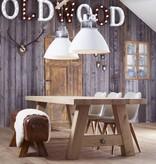Lampen Industriële lamp - Levi gepolijste ribkop