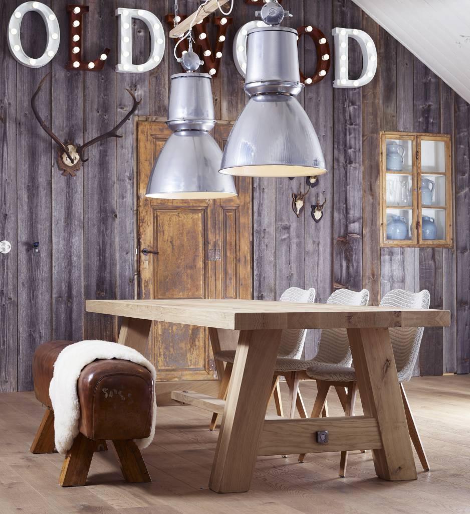 Industriële lamp - Barrel Chroom