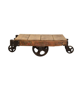 Industriële trolley (salontafel)