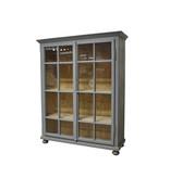 Industrieel meubel Houten vitrinekast