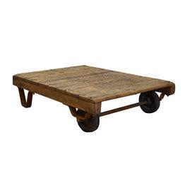 Palletkar - industriële salontafel