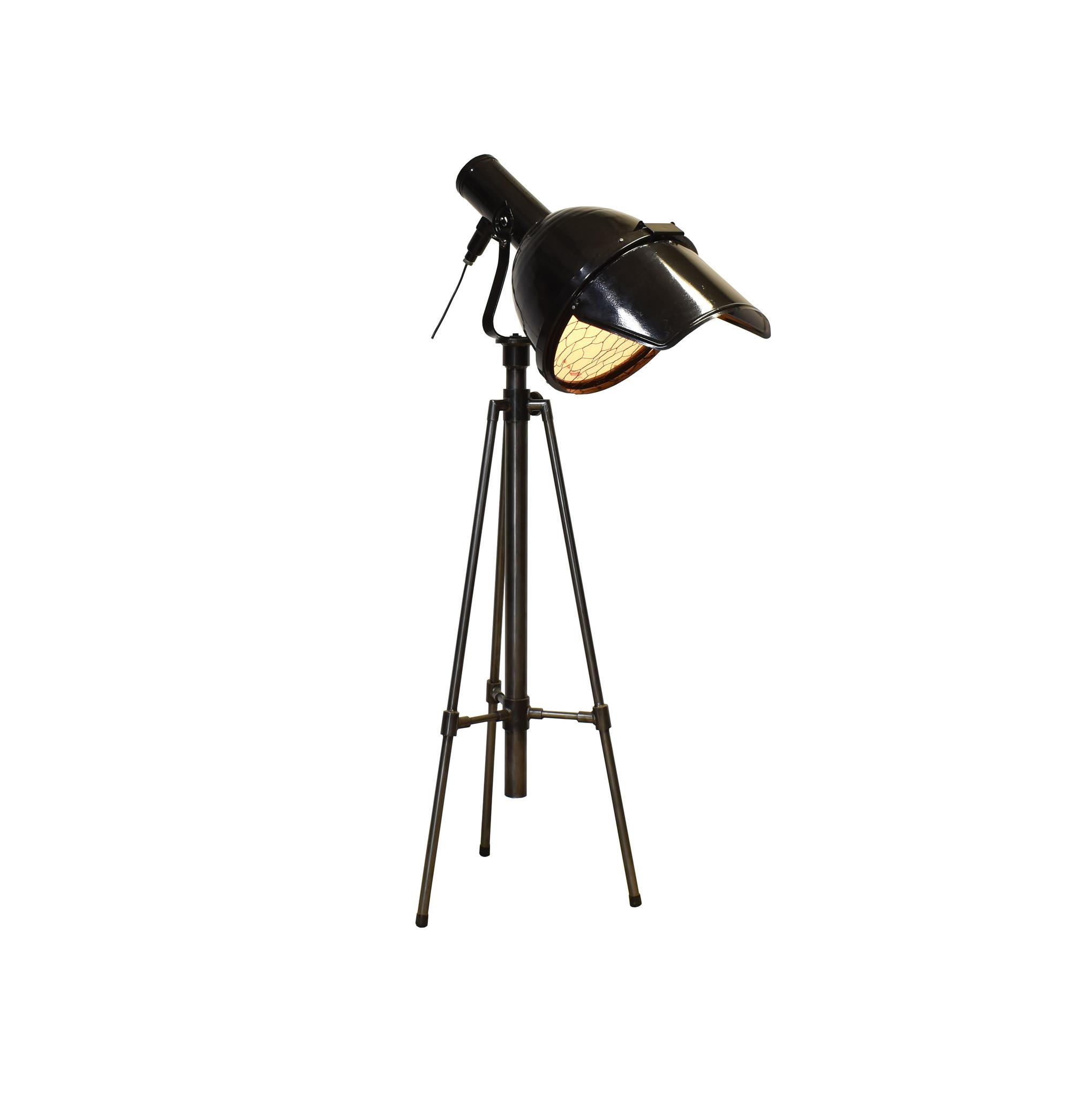 industriele theater lamp op statief
