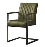 Eetkamerstoel Eetkamerstoel - Ferro armchair - Green