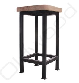 Catering barstool 'Dorien' with wooden seat