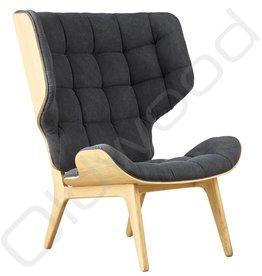 Armchair - Canvas Finn Black