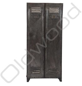 Industrial locker metal two-door
