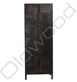 Industrial metal locker cabinet two-door