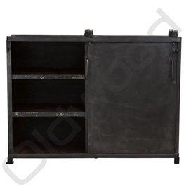 Industrieel meubel Metal industrial sliding door cupboard