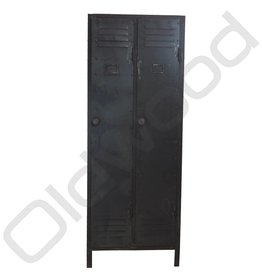 Vintage two-door locker cabinet