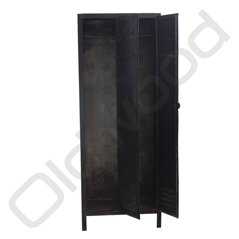 Vintage two-door locker cabinet