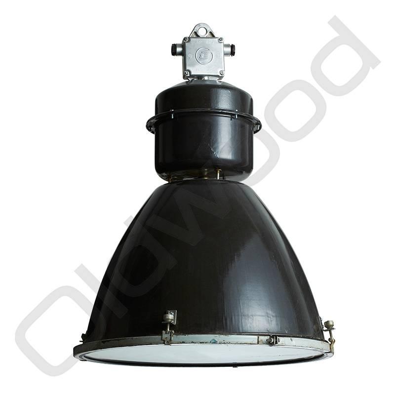 oldwood Industriële lamp - Viktor zwart