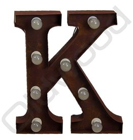 Rusty light letter '' K ''