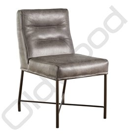 Leather dining room chair - Lushka Gray