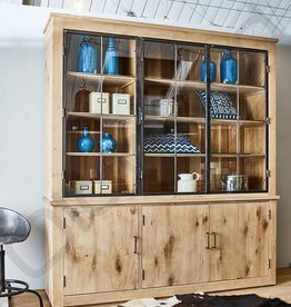 Custom wooden shop cupboard