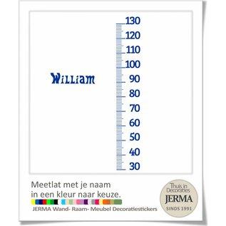 JERMA Groeimeter, Meetlat. met naam kleur naar keuze