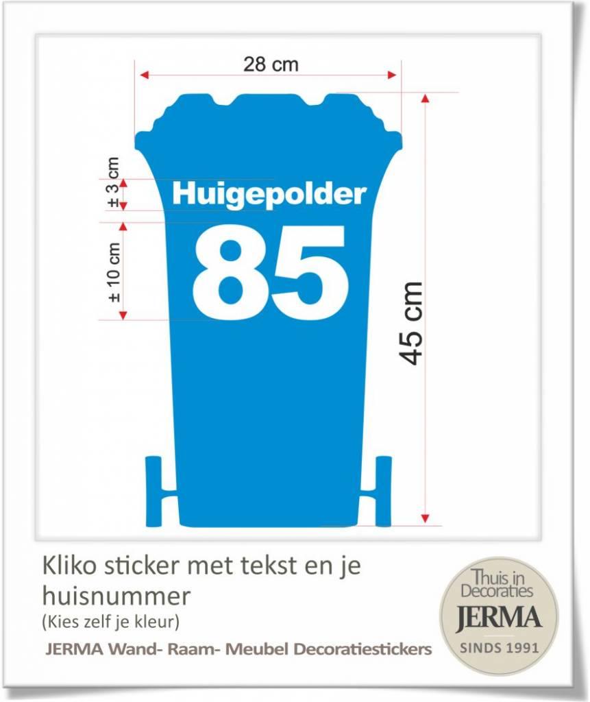 Zeer kliko stikker met huisnummer - Droomdecoraties.nl Thuis in decoraties JL86