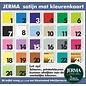 JERMA Geboorte raamsticker, in de vorm van een poststempel.