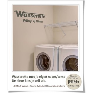 JERMA Wasserette muursticker met tekst