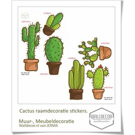 Walldecor Cactus Raamstickers