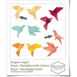 Walldecor Vogel raamsticker Origami decoratie