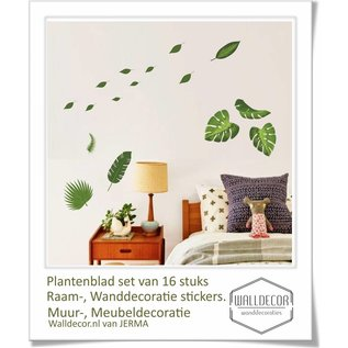 Walldecor Planten bladeren decoratie stickers