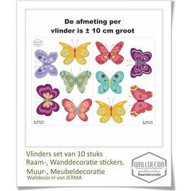 Walldecor Vlinder decoratie muur meubel stickers set.