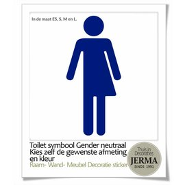 JERMA WC sticker Gender neutraal