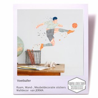Walldecor Voetballer Walldecor decoratiesticker