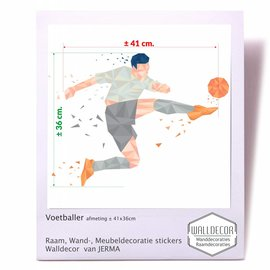 Walldecor Voetballer decoratiesticker