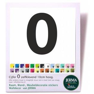 JERMA kliko plak Cijfers huisnummer plakletter