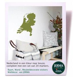 JERMA Nederland muursticker