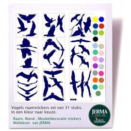 JERMA Vogels, MAXI set van 31 vogels.