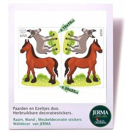 Walldecor Paarden, Ezel decoratie stickers