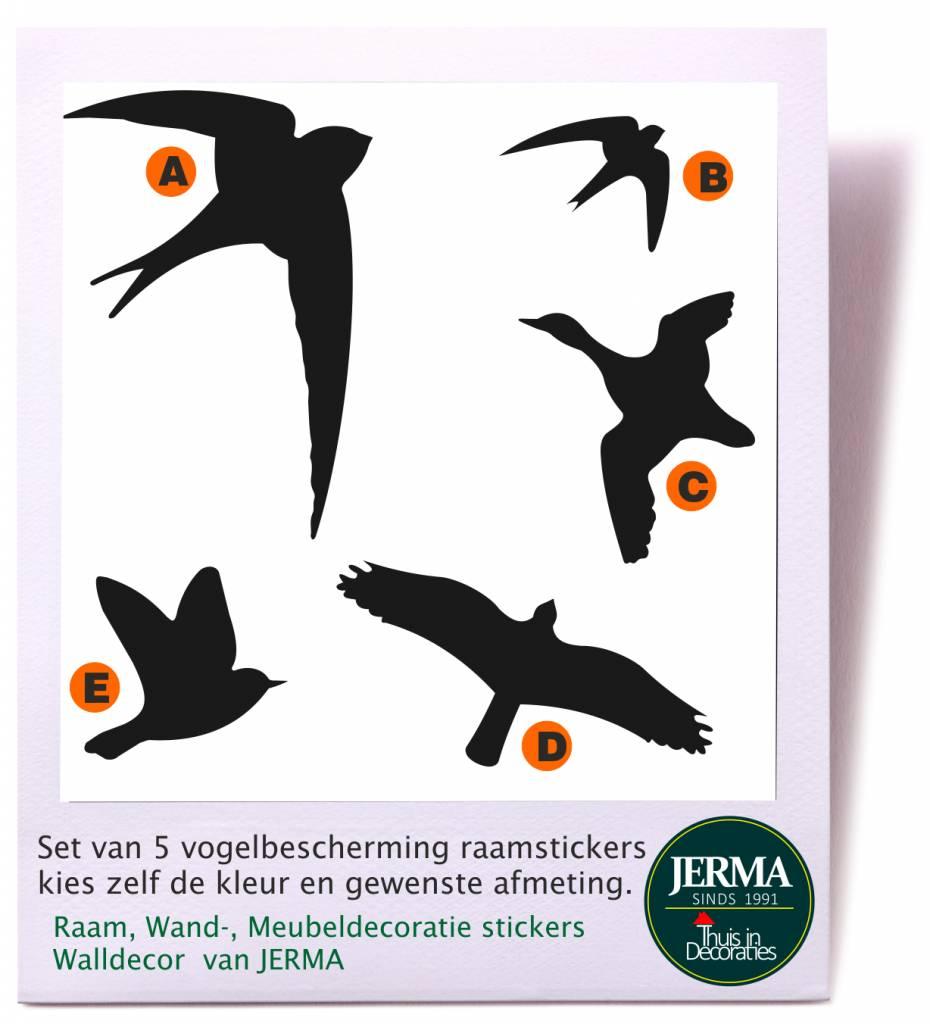 Jerma vogelbeschermingraam vogelvogelstickervogel stickerraamsticker vogel