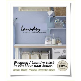 JERMA Laundry, Wasgoed muurstickers wandstickers wasmachine atickers