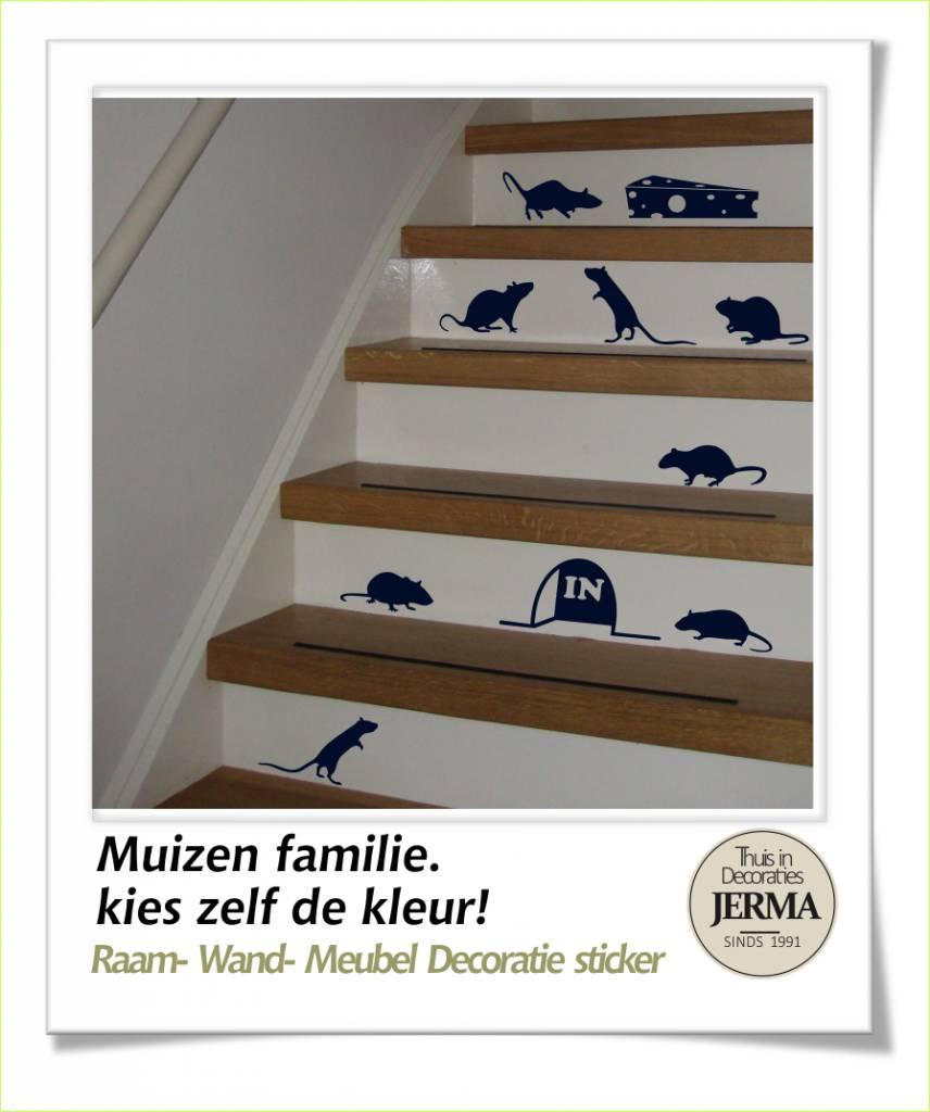 Geliefde Muizen traptrede stickers - Droomdecoraties.nl Thuis in decoraties UD18