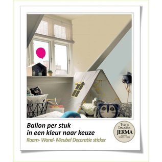 JERMA Ballon decoratie sticker raamdecoratie  wandstickers bolderkar pimpen