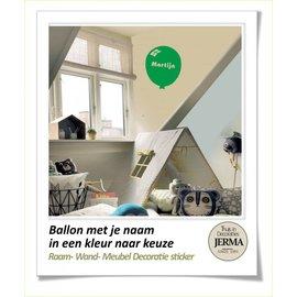 JERMA Ballon decoratie sticker met je naam / tekst