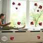 Walldecor Lieveheersbeestjes raam-, muursticker set 11 stuks