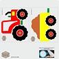 Walldecor Tractor muursticker kinderkamer