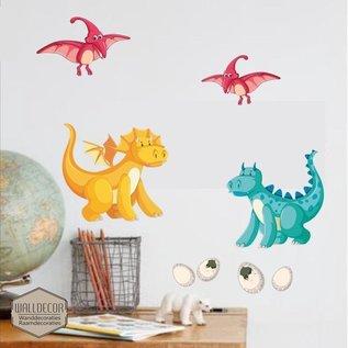 Walldecor Dinosaurus muurstickers set B
