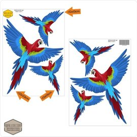 Walldecor Vogel raamstickers papegaai set