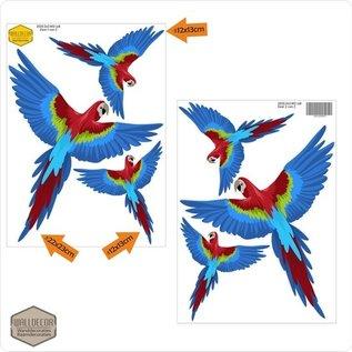 Walldecor Vogel raamstickers papegaai set