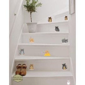 Walldecor Muizen trap decoratie stickers.