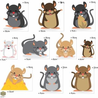 Walldecor Muizen trap decoratie stickers.
