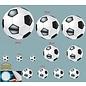 Walldecor Voetbal decoratie sticker set van 12 ballen.