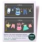 Walldecor Geboorte raamsticker waslijn met kleurige kleertjes