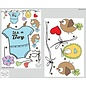 Walldecor Geboorte sticker waslijn met kleertjes it s a Boy