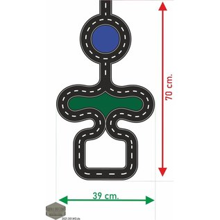 Walldecor Autobaan vloersticker kinderkamer sticker