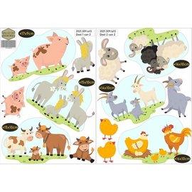 Walldecor Kinderkamer stickers boerderij dieren set